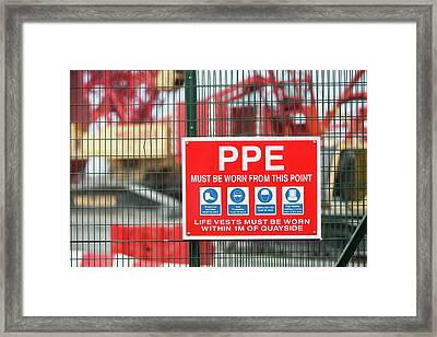 The Walney Offshore Wind Farm Framed Print