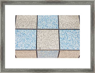 Tiles Framed Print by Tom Gowanlock