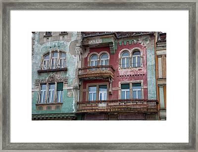 Timisoara In The Banat Of Romania Framed Print