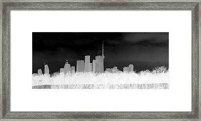 Toronto Skyline Framed Print by Valentino Visentini