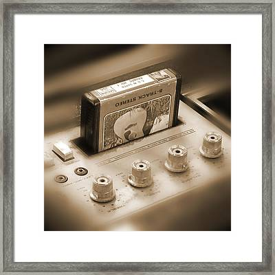 8-track Tape Player Framed Print