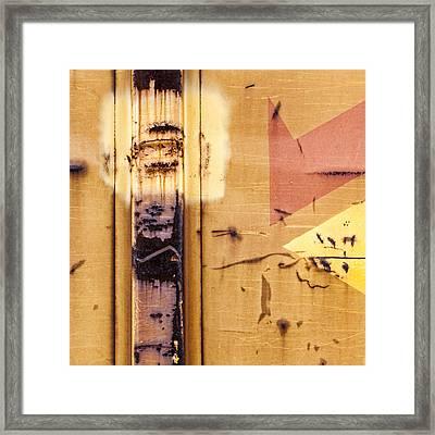 Train Art Abstract Framed Print