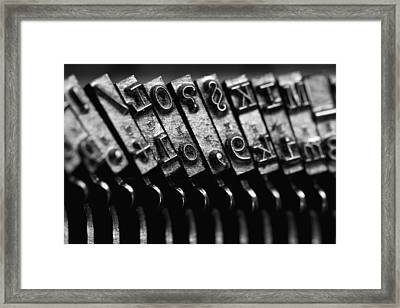Typewriter Keys Framed Print by Falko Follert