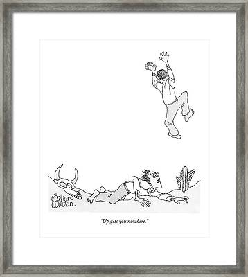 Up Gets You Nowhere Framed Print
