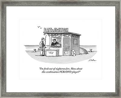 I'm Fresh Out Of Nightcrawlers. How About This Framed Print