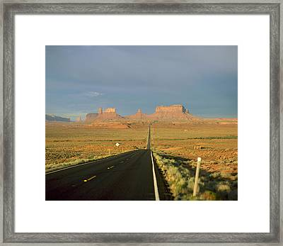 Usa, Arizona, Monument Valley Navajo Framed Print by Tips Images