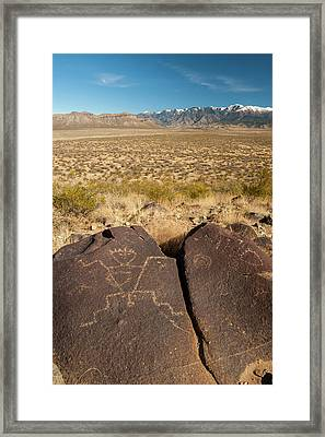 Usa, New Mexico, Three Rivers Framed Print by Jaynes Gallery