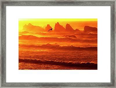 Usa, Oregon, Bandon Framed Print