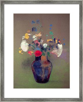Vase Of Flowers Framed Print