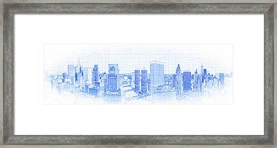 View Of Skylines In A City, Chicago Framed Print