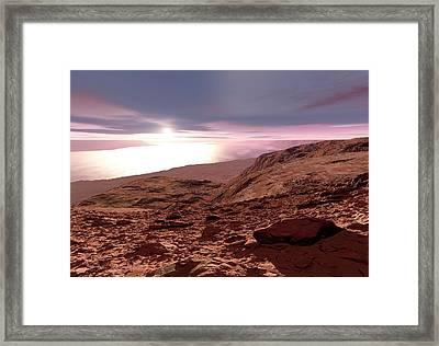 Water On Mars Framed Print by Detlev Van Ravenswaay