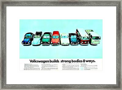 8 Ways Framed Print by Benjamin Yeager
