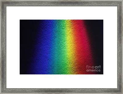 White Light Spectrum Framed Print by GIPhotoStock