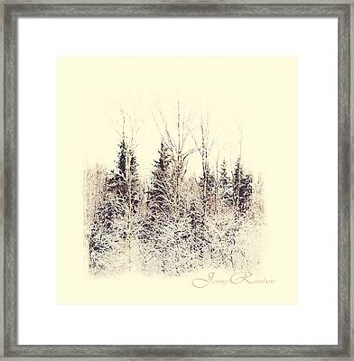 Winter Wonderland. Elegant Knickknacks From Jennyrainbow Framed Print by Jenny Rainbow