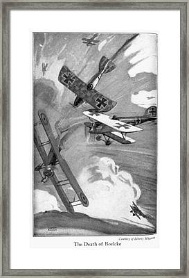 World War I Aerial Combat Framed Print by Granger