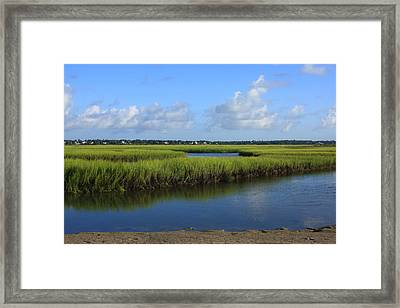 Wrightsville Beach Marsh Framed Print