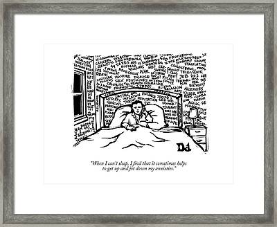 When I Can't Sleep Framed Print