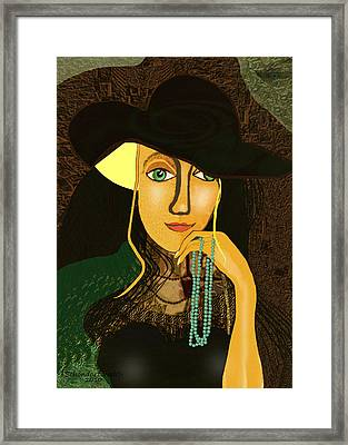 803 - Young Girl With Pearls ... Framed Print