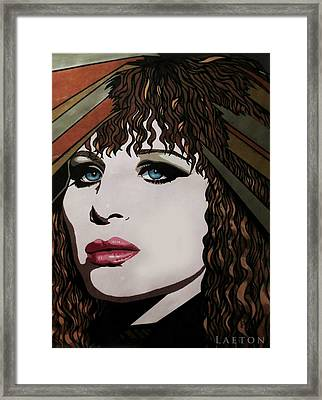 80's Barbra Framed Print