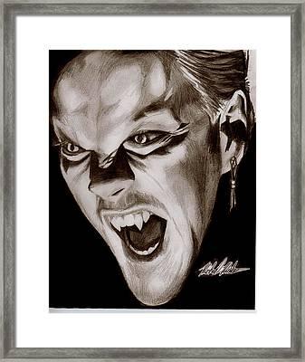80's Vampire Framed Print by Michael Mestas
