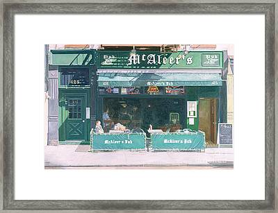 80th And Amsterdam Avenue Framed Print by Anthony Butera