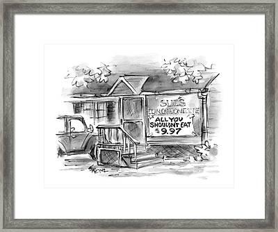 New Yorker September 6th, 2004 Framed Print by Lee Lorenz
