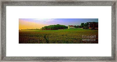 Conley Road, Spring, Field, Barn   Framed Print