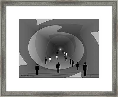 816 - Light At The End Of The Tunnel Framed Print by Irmgard Schoendorf Welch