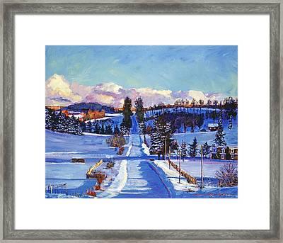 817 Canadian Winter Farm Framed Print by David Lloyd Glover