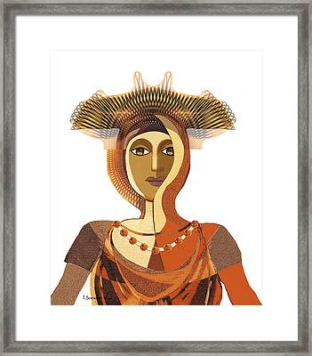 821 - Byzantine Princess Framed Print by Irmgard Schoendorf Welch