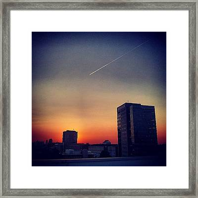 Colorful Sundown Duisburg Framed Print