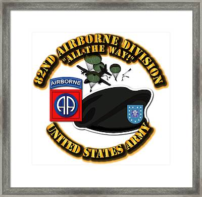 82nd Airborne Division - All The Way Framed Print