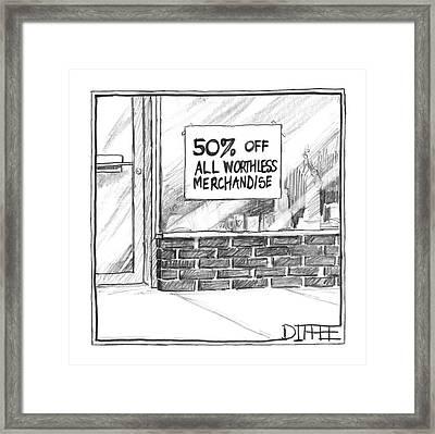New Yorker April 24th, 2000 Framed Print