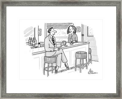 New Yorker August 11th, 2008 Framed Print by Leo Cullum