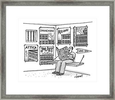 New Yorker August 7th, 2000 Framed Print by Tom Cheney