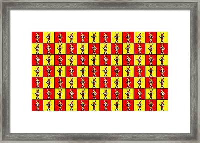 84 Zebras Framed Print by Asbjorn Lonvig