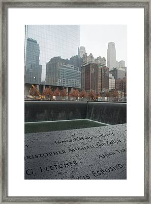 8458 Names And Reflections Framed Print by Deidre Elzer-Lento