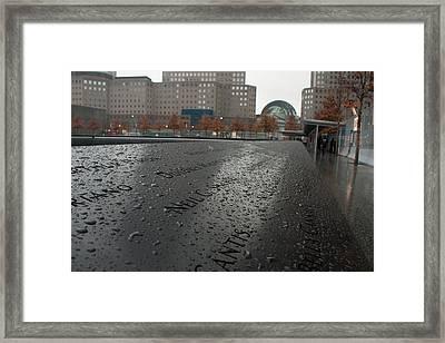 8488 911 Memorial View Framed Print by Deidre Elzer-Lento