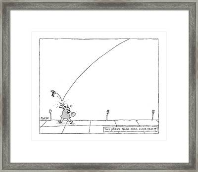 Tiny Grand Piano From Outer Space! Framed Print