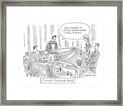 Piano-tuning Bar Framed Print by Mick Stevens