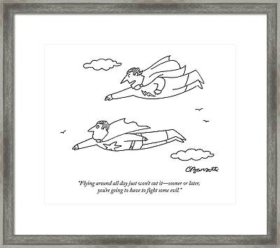 Flying Around All Day Just Won't Cut It - Sooner Framed Print