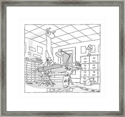At The Laff-a-minit Framed Print by Jack Ziegler