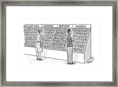 New Yorker May 15th, 2000 Framed Print by Tom Cheney