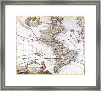 Antique Map Framed Print