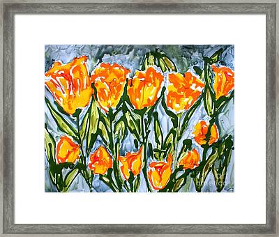 Mann Flowers Framed Print by Baljit Chadha