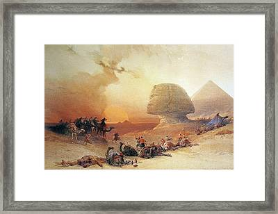 View Of The Sphinx  Framed Print