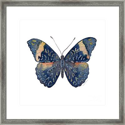 89 Red Cracker Butterfly Framed Print