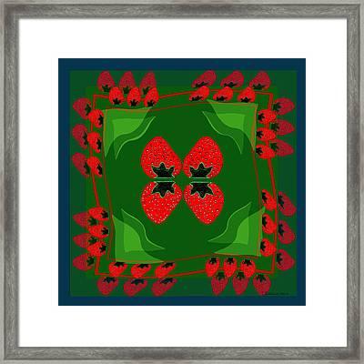895 - Strawberry Fantasy Framed Print