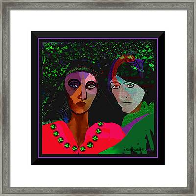 899 - A Couple ... Framed Print by Irmgard Schoendorf Welch