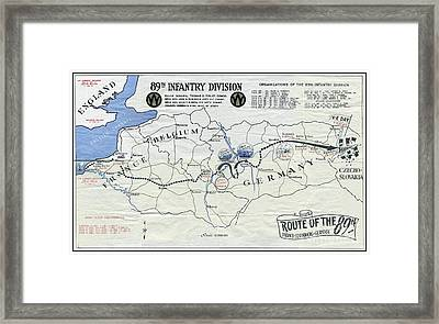 89th Infantry Division World War I I Map Framed Print